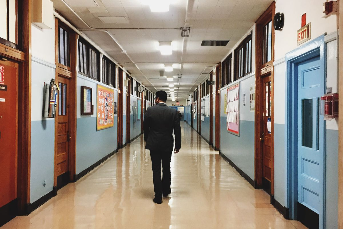 Manalo walks through the hallways of QIRT periodically throughout the day, dropping into classes and speaking with his students