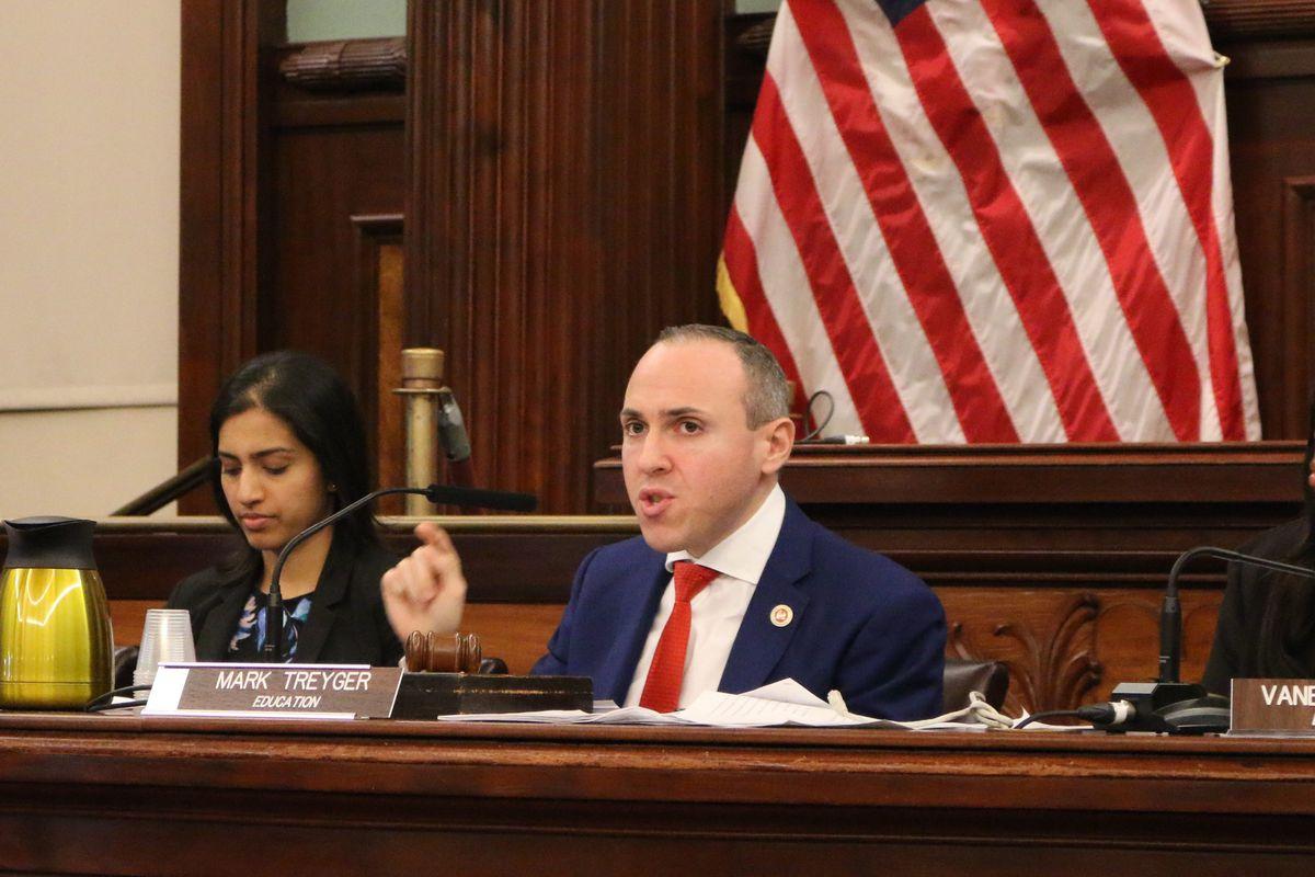 Councilman Mark Treyger asks questions during a recent council hearing.