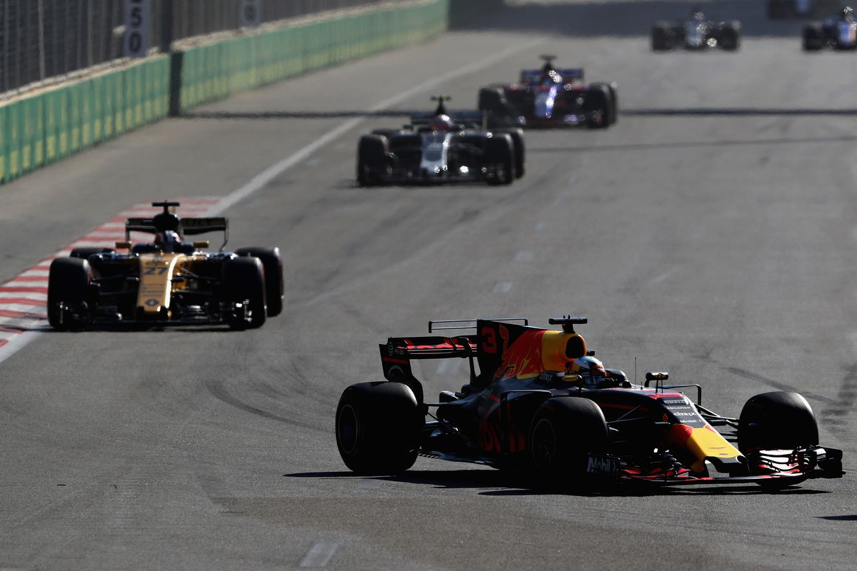 Lewis Hamilton, Sebastian Vettel clash under Safety Car in Baku