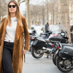 A simple, but chic way to wear a Loewe T-shirt.
