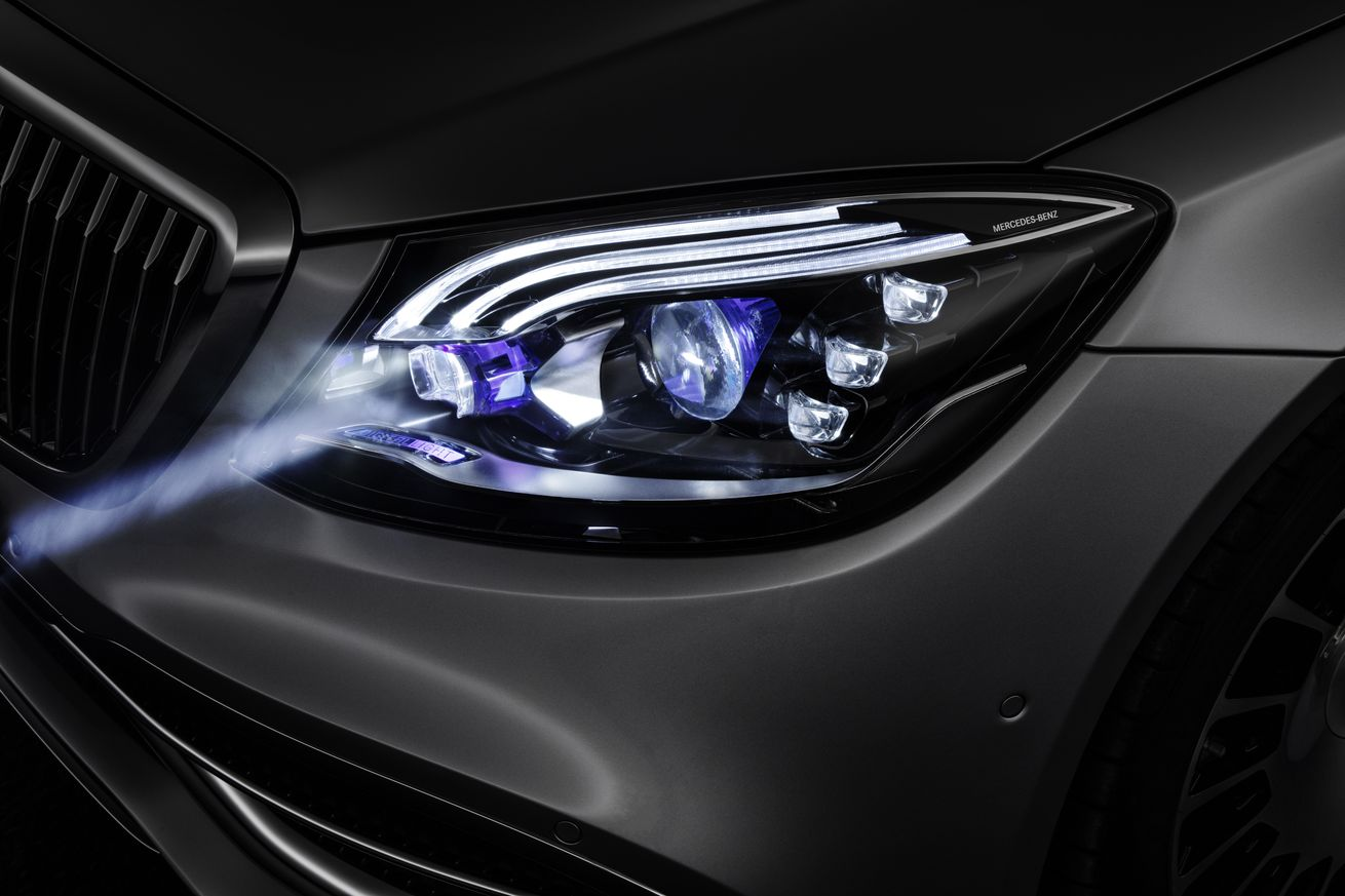 mercedes is adding smart headlights to its maybach
