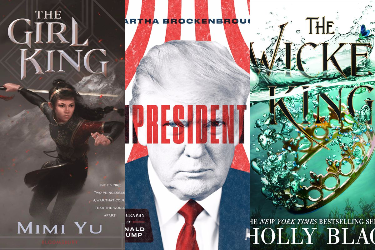 Book covers for The Girl King, Unpresidented, and Wicked King