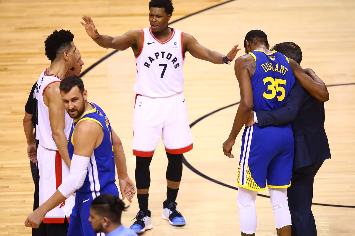 Kevin Durant re-injured his leg and Raptors players had to tell ...