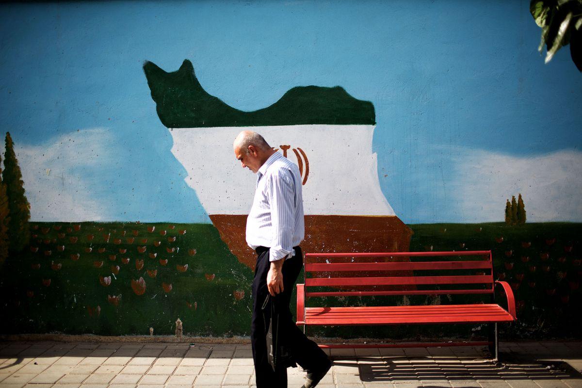 iran man walking