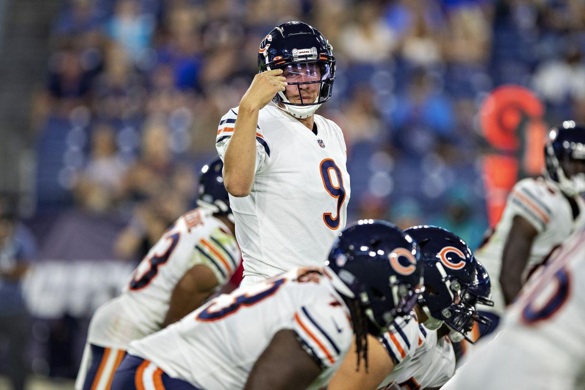 Bears quarterback Nick Foles plays in the preseason against the Titans.