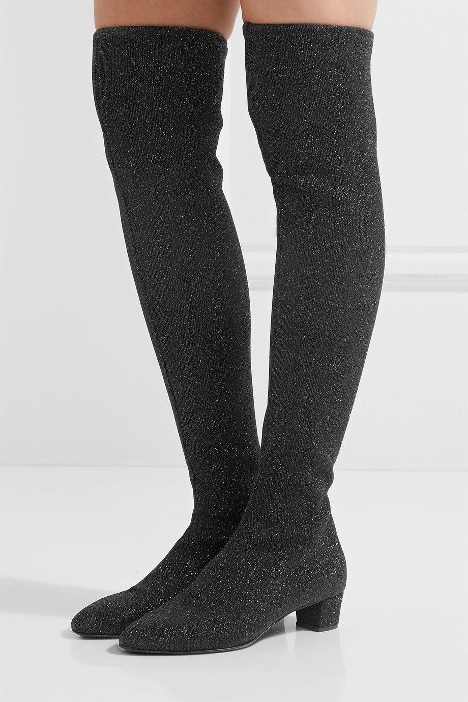 Giuseppe Zanotti Glitter Stretch-Knit Boots