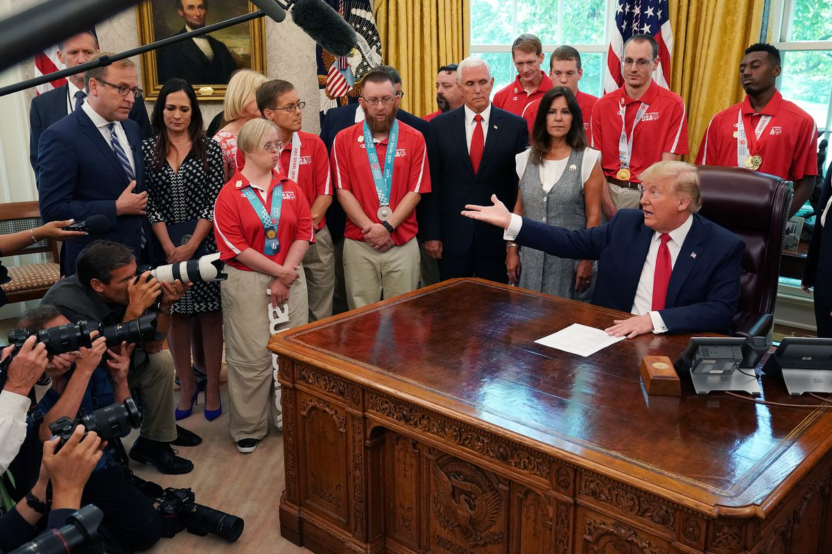 President Trump And First Lady Hosts Members Of Special Olympics Team USA 2019