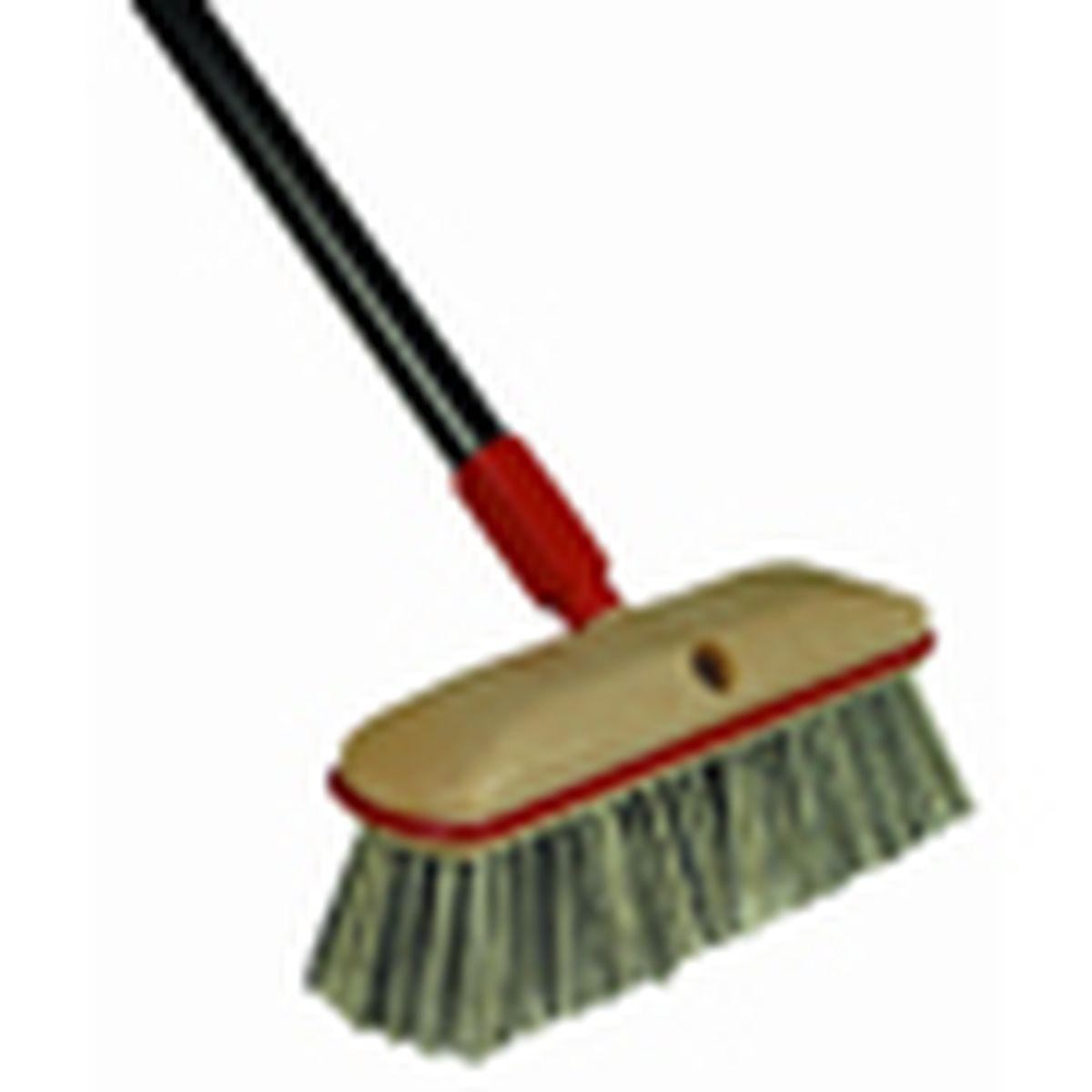 long-handled scrub brush