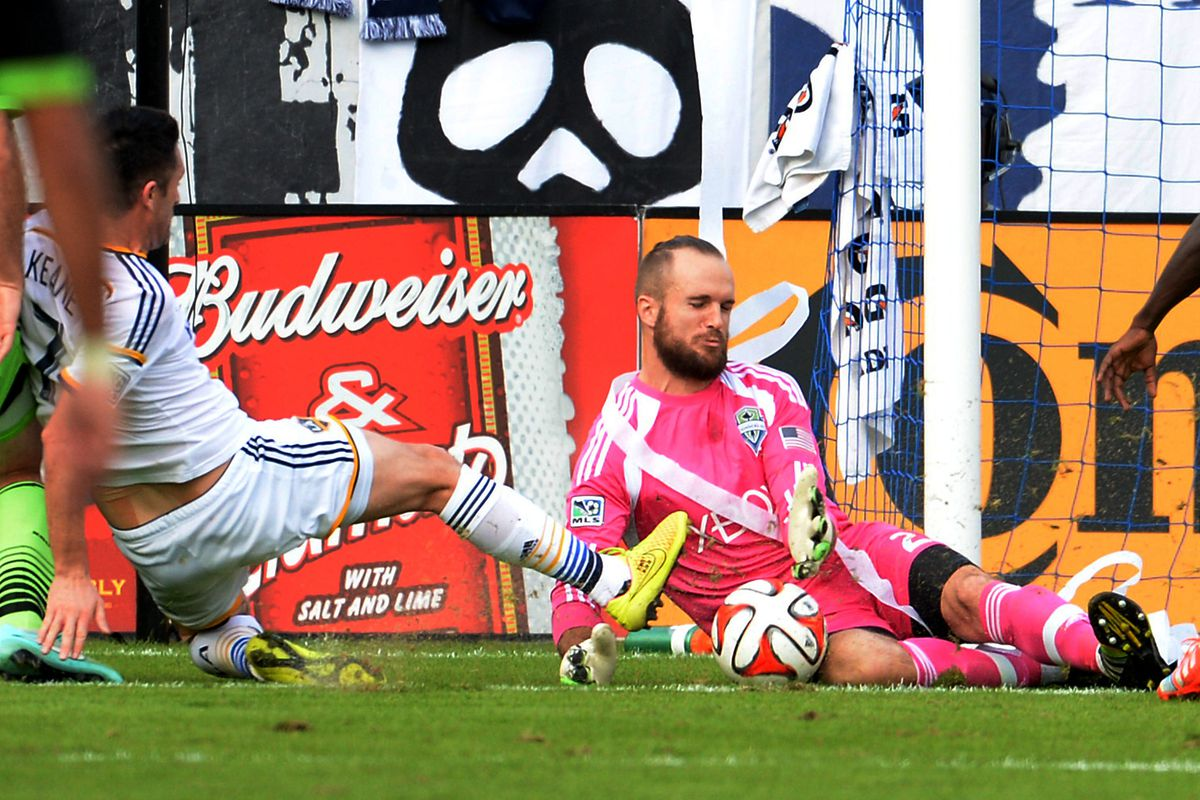 Stefan Frei reacts after being awarded a ceremonial sash