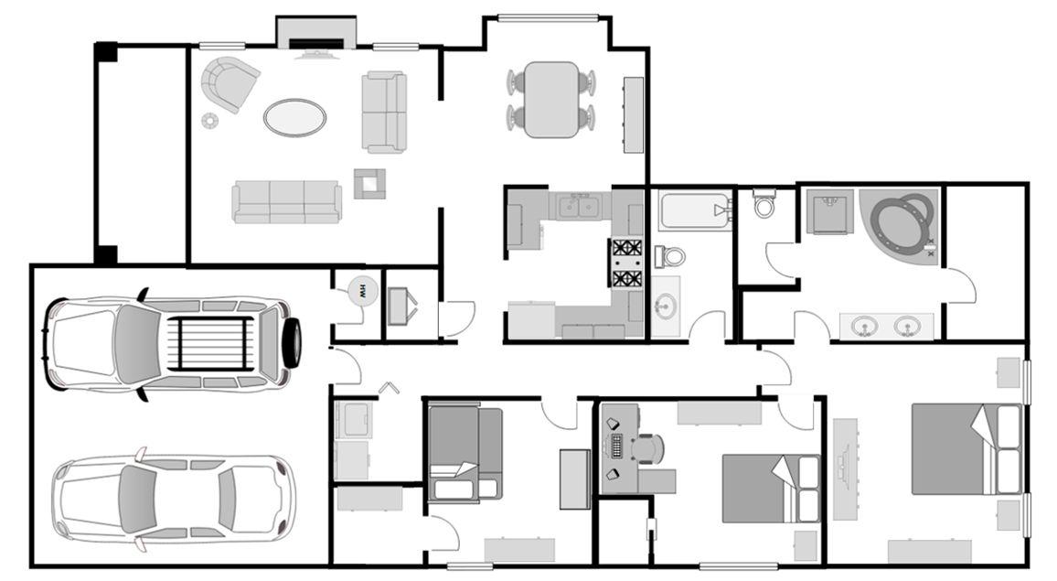 Floorplan of a single-family house