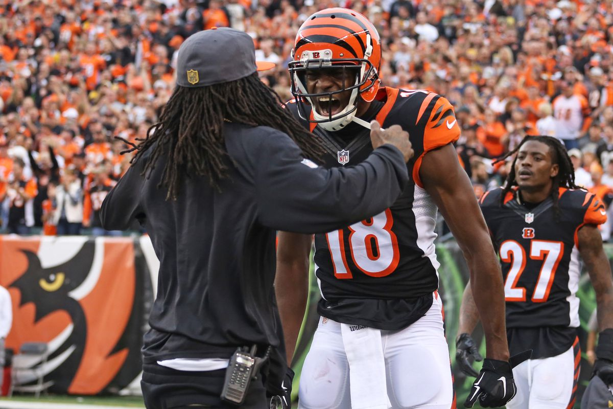 a j  green  adam jones hosting youth football camps