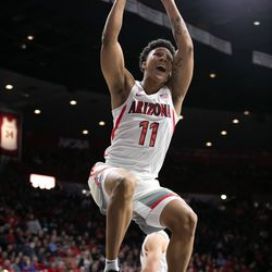 Arizona forward Ira Lee slams home a dunk during the Arizona-Cal game in McKale Center on February 21 in Tucson, Ariz. Lee finished with six points on 3-of-3 shooting.