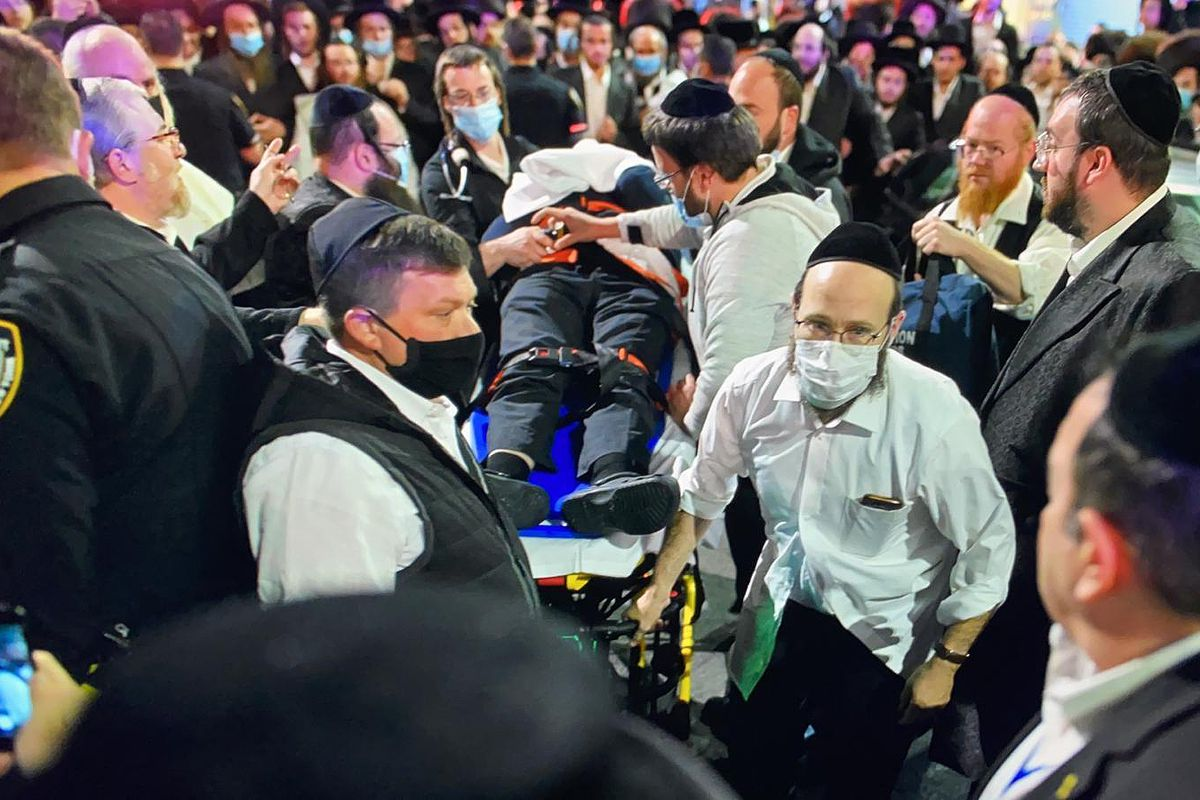 The family of Berish Getz says he was beaten unconscious by a crowd in Borough Park protesting Gov. Andrew Cuomo's order to shut down schools and limit synagogue capacity after a coronavirus spike, Oct. 6, 2020.