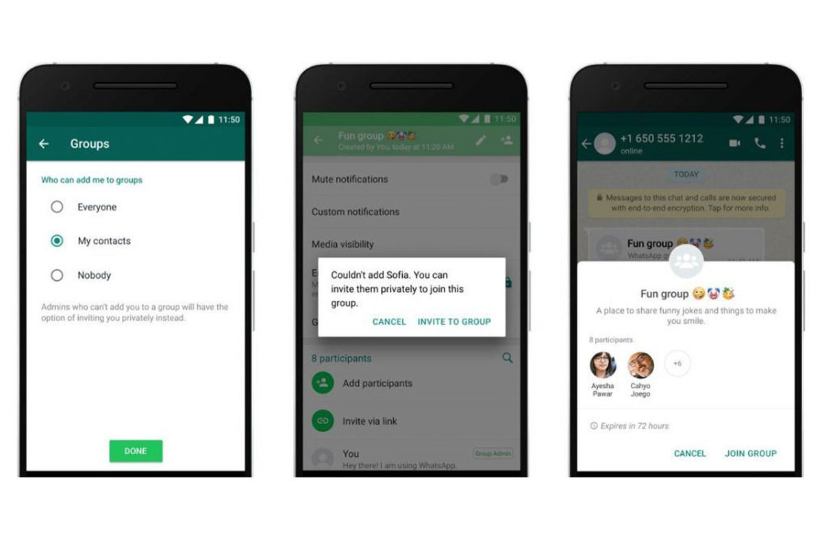 Image result for WhatsApp now lets you control who can add you to groups