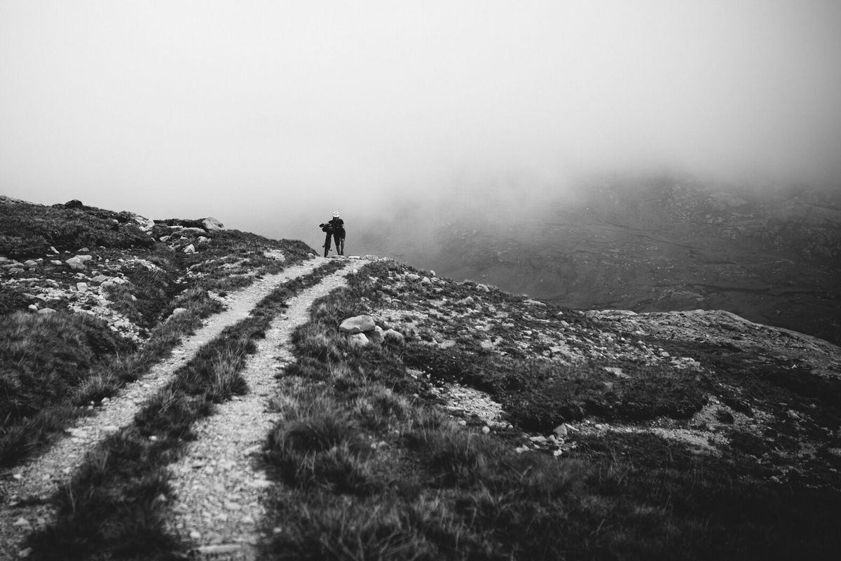 Lee Craigie on the ascent to Bealach Horn, the midway point of the Highland Trail 550