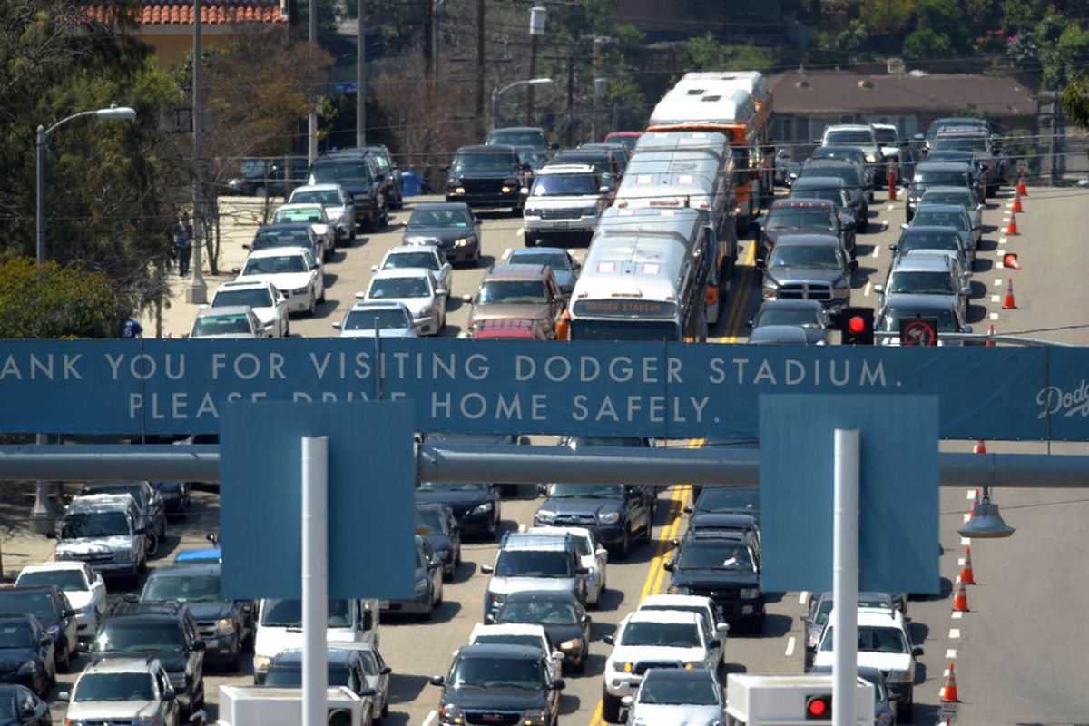 It's going to be very crowded at Dodger Stadium on Monday, so plan accordingly.