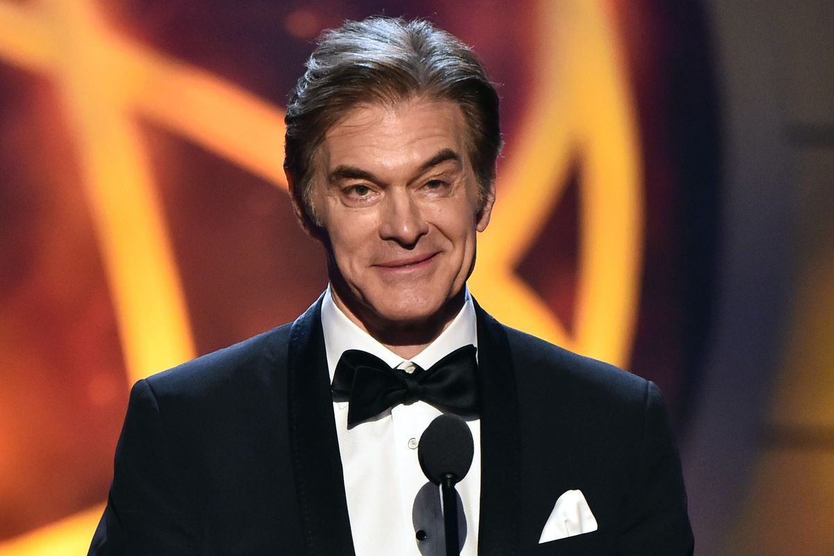 Dr. Mehmet Oz speaks onstage at the 46th annual Daytime Emmy Awards at Pasadena Civic Center on May 05