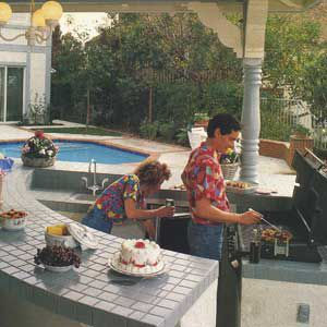 <p>This property in Southern California gave breathtaking views of the surrounding area. Unfortunately, the family had to walk to the back property line to take in the sites. That and the fact that there was really no place for the family to cook and dine together led to a fully equipped outdoor kitchen near the rear of the yard.</p>