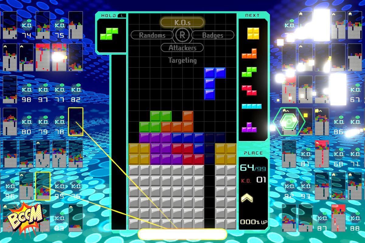 Tetris 99 fühlt sich oft wie eine Menge an, besonders wenn die Geschwindigkeit in den top-50-und top-10-Marken zunimmt