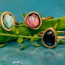 """A selection of <a href=""""http://satomikawakita.com/collections/ring/one-of-a-kind"""">one-of-a-kind</a> rings"""