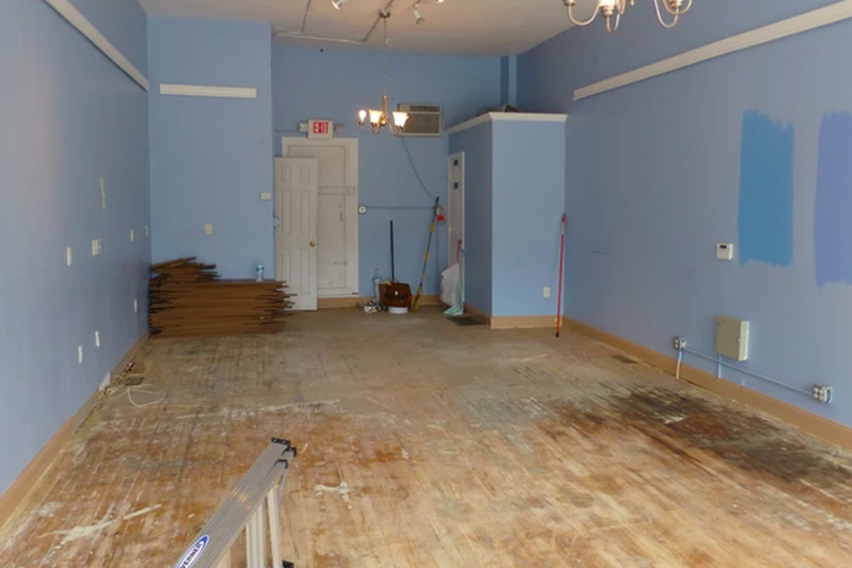 The storefront, before construction began.