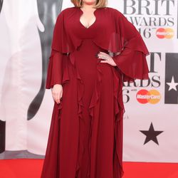 Adele in Giambattista Valli's spring 2016 ready-to-wear collection. Photo: Mike Marsland/Getty Images