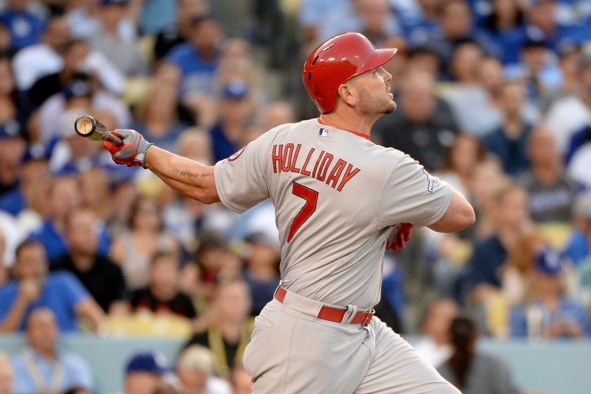 Matt Holliday muscles a home run