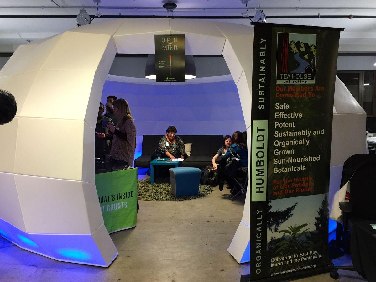 A dome lounge at potpreneur night