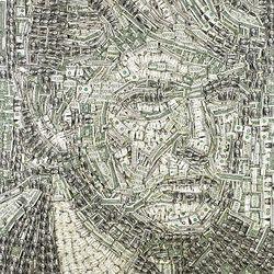 Utahn Sean Diediker used $1 bills to create a portrait of Donald Trump.