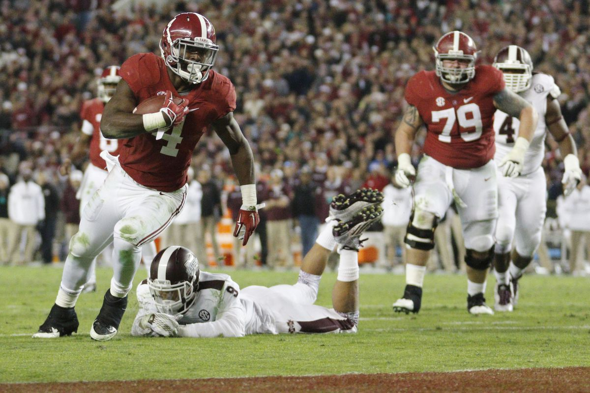 Alabama ran by Mississippi State to nab the No. 1 spot in this week's playoff poll
