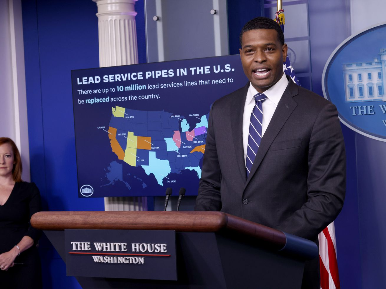 Press Secretary Psaki Holds Daily Briefing With EPA Administrator Regan