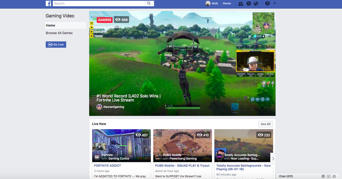 Fb.gg is Facebook's game streaming hub for stealing Fortnite streamers away from Twitch