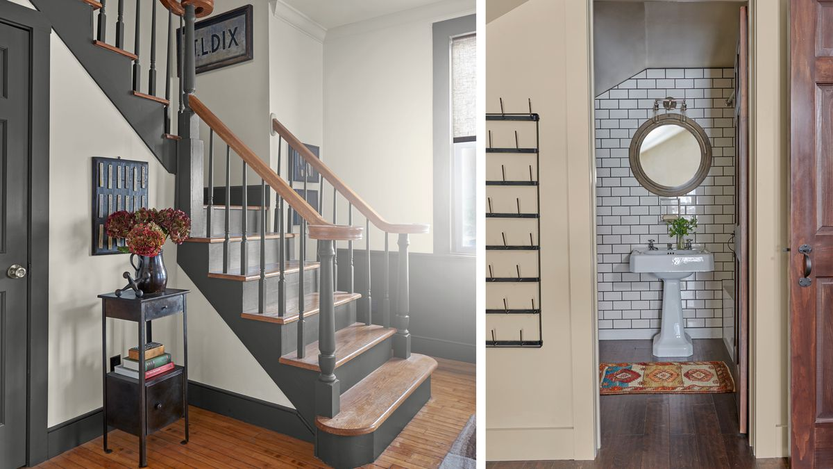 TV room stairs/guest bath, Getting Schooled, Sep/Oct 2020