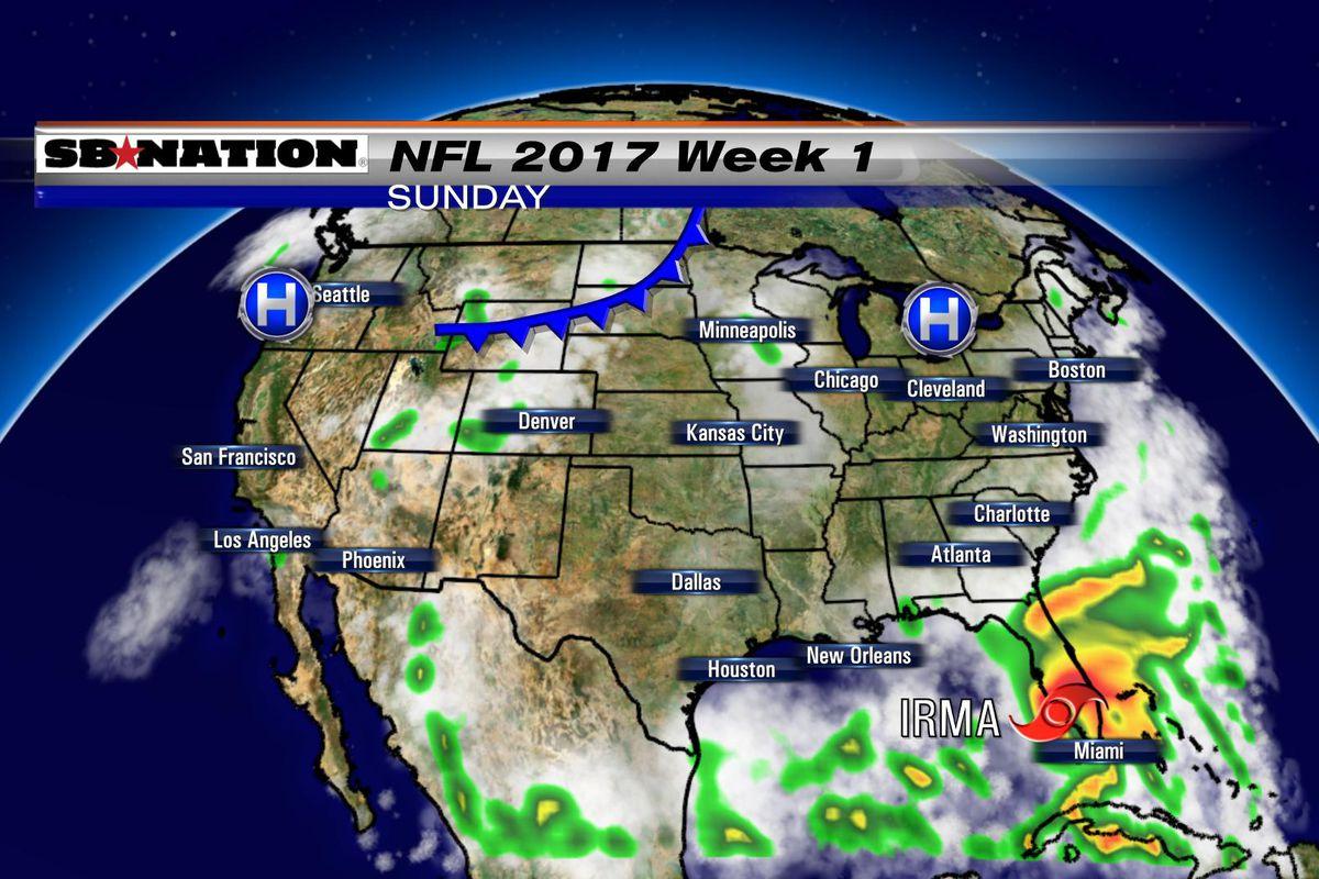 NFL Weather Forecast Week SBNationcom - Us weather map for next week