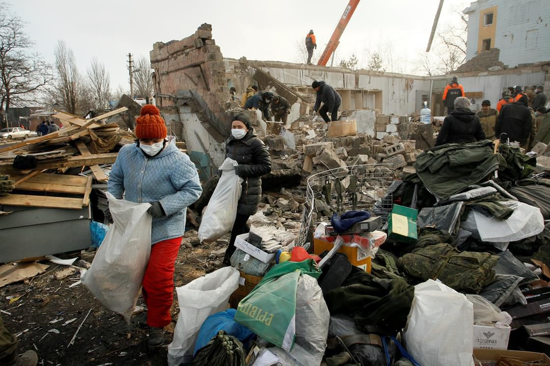 Sifting through the wreckage in Ukraine
