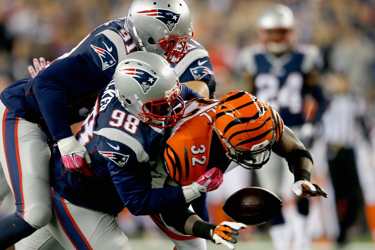 Image result for patriots beating up on the Bengals