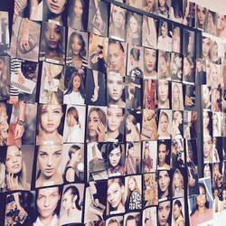 Here's my beauty inspiration board, which stays up in my office. It's filled with all the hair and makeup looks from backstage at the spring shows. I rely heavily on this board when I'm brainstorming story ideas and looking for trends.