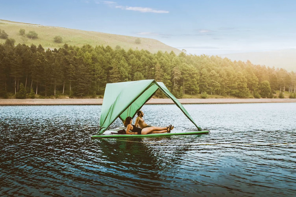 do-everything tent floating on water