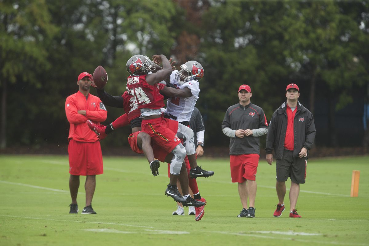 The Tampa Bay Buccaneers practicing ahead of the 2017 season