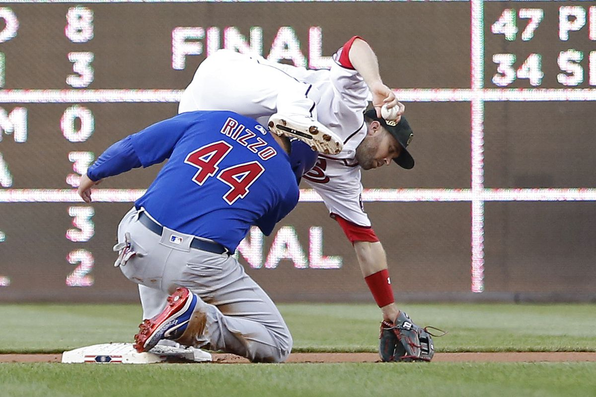 Chicago Cubs 6-5 over Washington Nationals on ESPN Sunday Night Baseball to take 2 of 3 in Nationals Park...