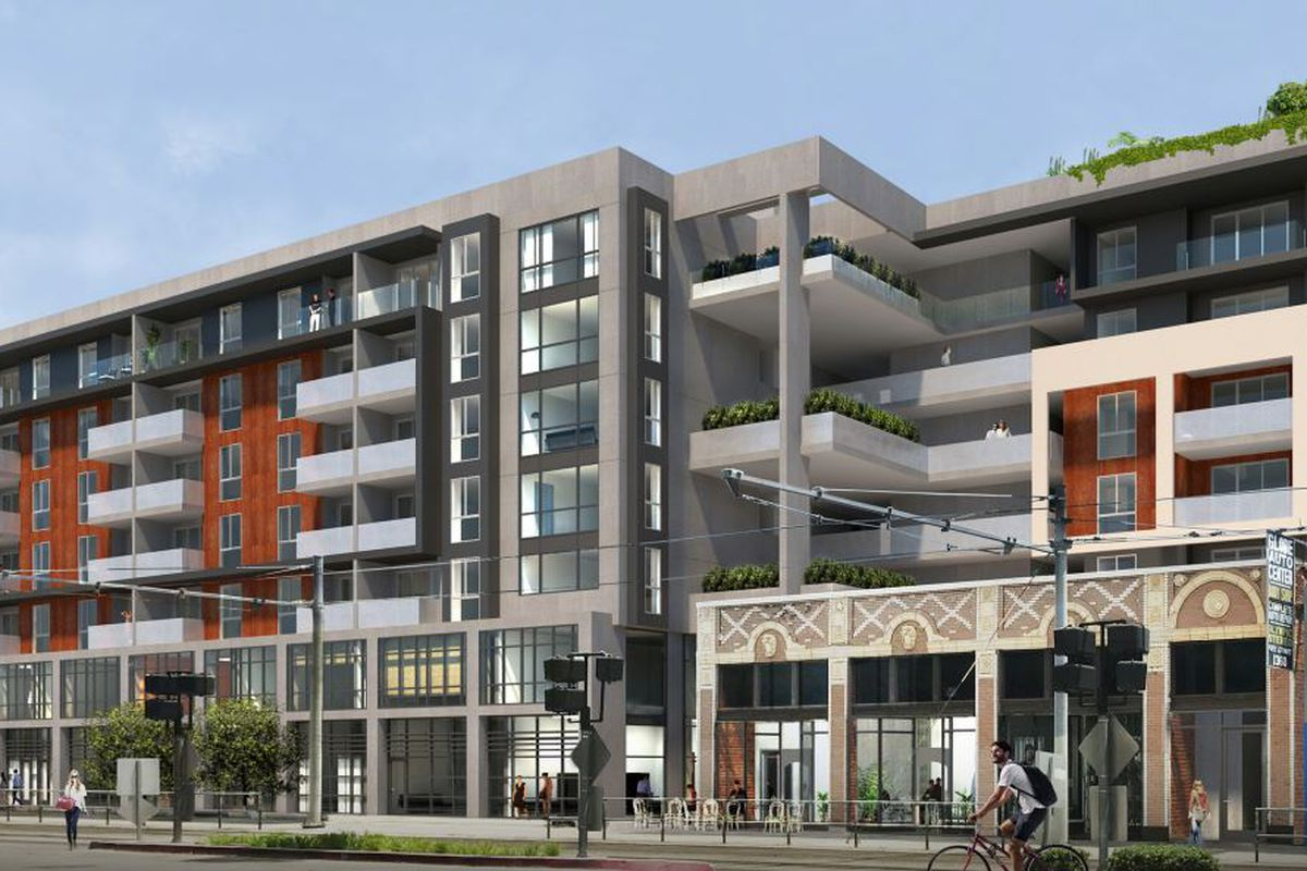 Rendering of Flower Street mixed use project