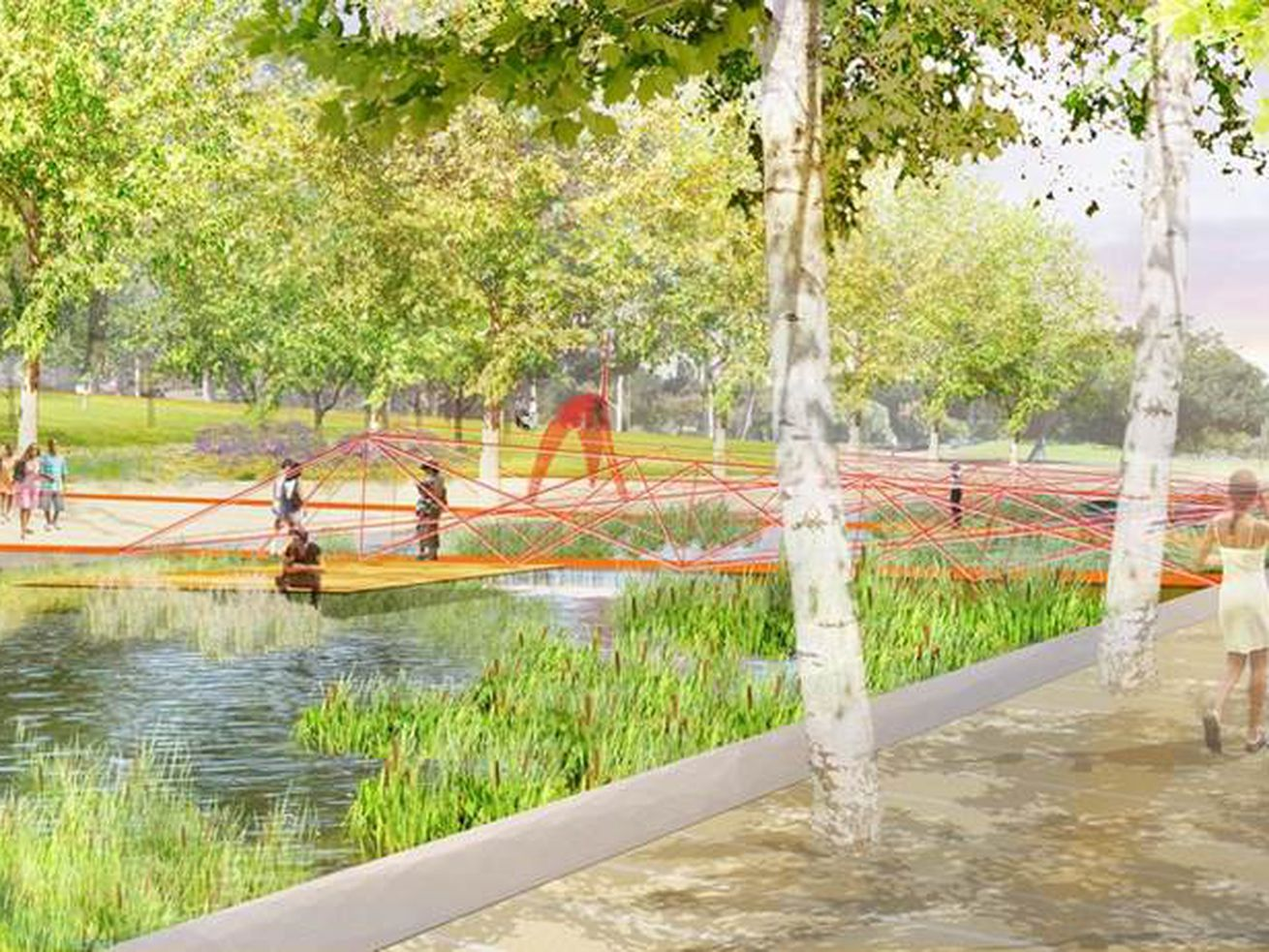 The park's upgrades would include new walking paths and improved lighting.