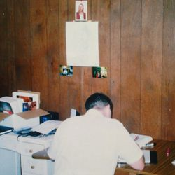 Greg Trimble is shown here studying as an LDS missionary. He said serving a mission in Michigan was a life-changing experience.