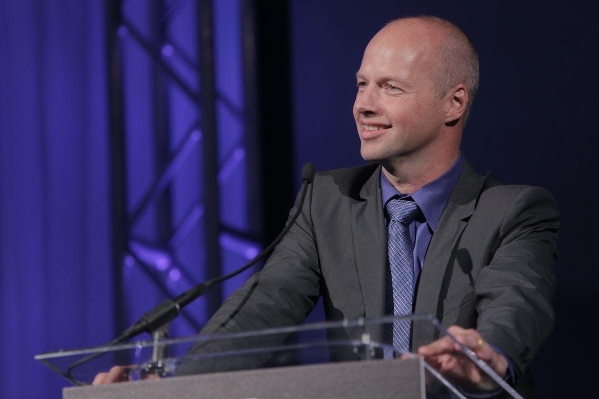 Udacity founder Sebastian Thrun speaking