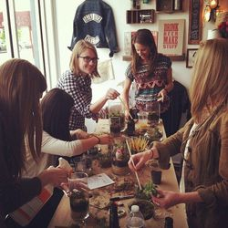 """<b><a href=""""http://www.workshopphl.org/classes.html"""">DIY Terrarium Class</a> at Workshop PHL</b><br> For $40 per person, you'll receive all of the supplies you need (mason jars, moss, dirt, succulents) to create the terrarium of your dreams at Fishtown <"""