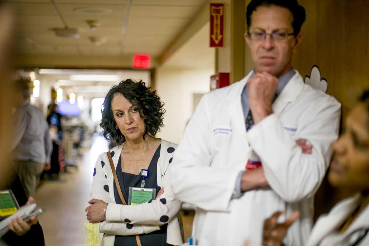 Elizabeth Moje, dean of the school of education at the University of Michigan, studied how doctors are trained with Dr. Jonathan Zimmerman at Beaumont Hospital - Dearborn as she developed a new approach to training teachers.
