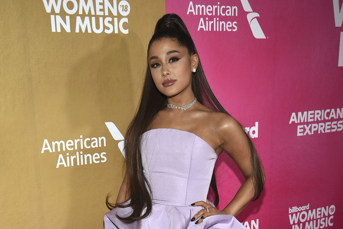 Ariana Grande attends the 13th annual Billboard Women in Music event at Pier 36 in New York in 2018.