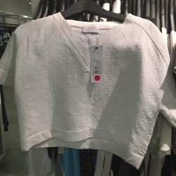 Louise Astrup cropped shirt in size 10, $169.20 (was $423)