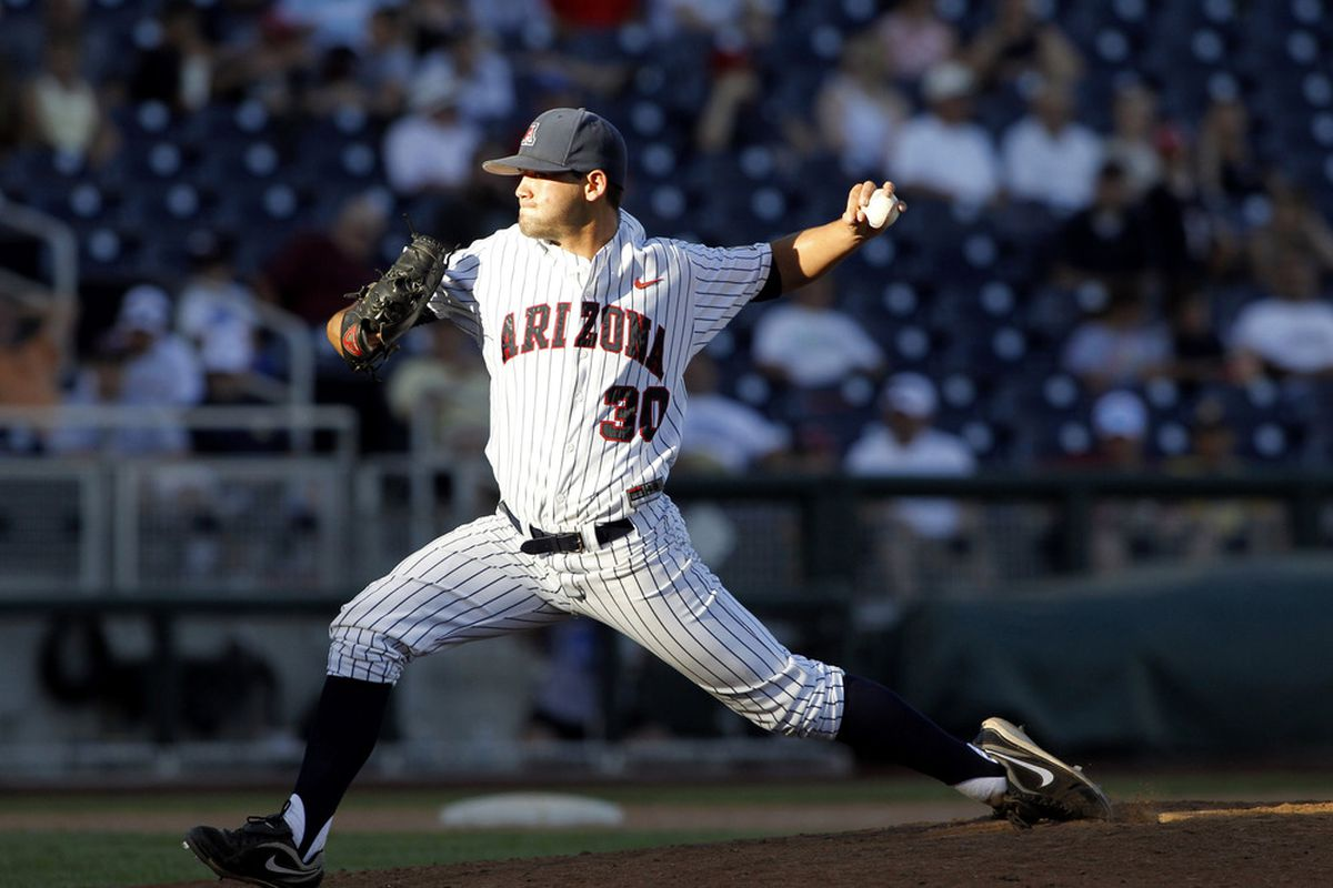 Tyler Crawford went the distance on Sunday for the first time in his career, and the first Arizona Wildcat to do so in 2013 as they went on to beat Washington State 7-3.