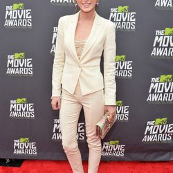 Bella Thorne in an Armani suit.